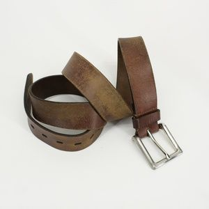 Distressed Leather Belt - Size 44